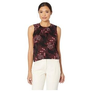 Printed Sleeveless Woven Top Size M